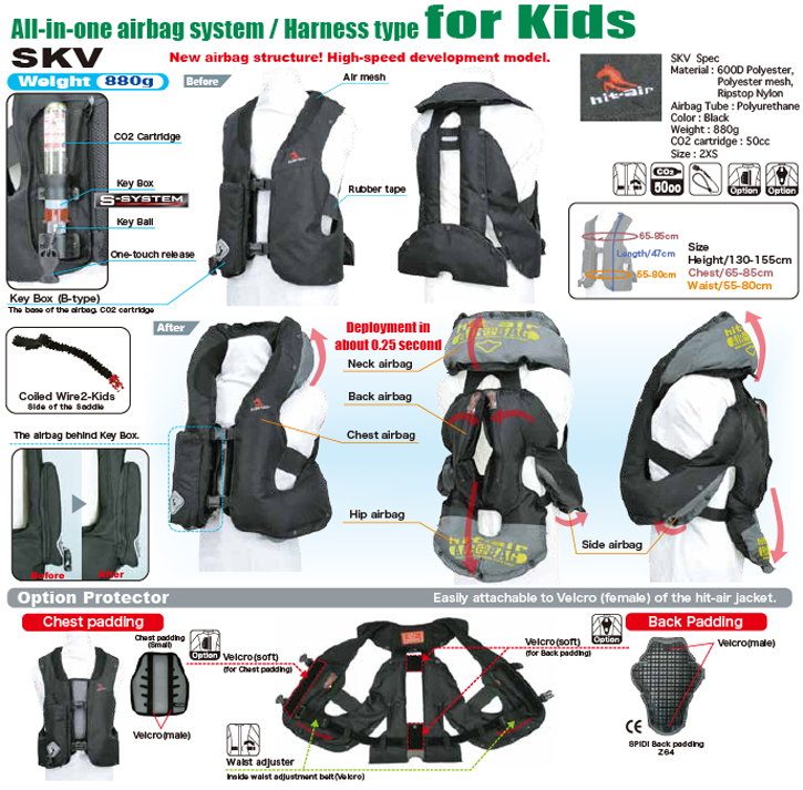 Light Airbag Vest SKV Kids - HORSE RIDING