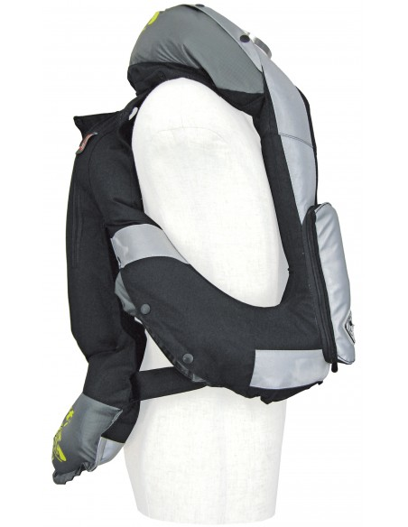 Light Airbag Vest Reflex MLV-P - MOTORCYCLE - BLACK