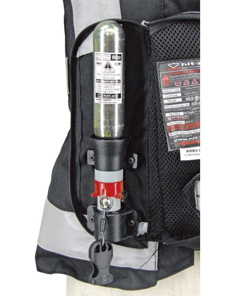 Light Airbag Vest Reflex MLV-P - MOTORCYCLE - BLACK - CARTRIDGE 60CC