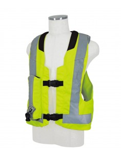 Light Airbag Vest Reflex MLV-P - HORSE RIDING -  FLUORESCENT YELLOW
